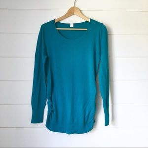 OLD NAVY Maternity Teal Knit Sweater